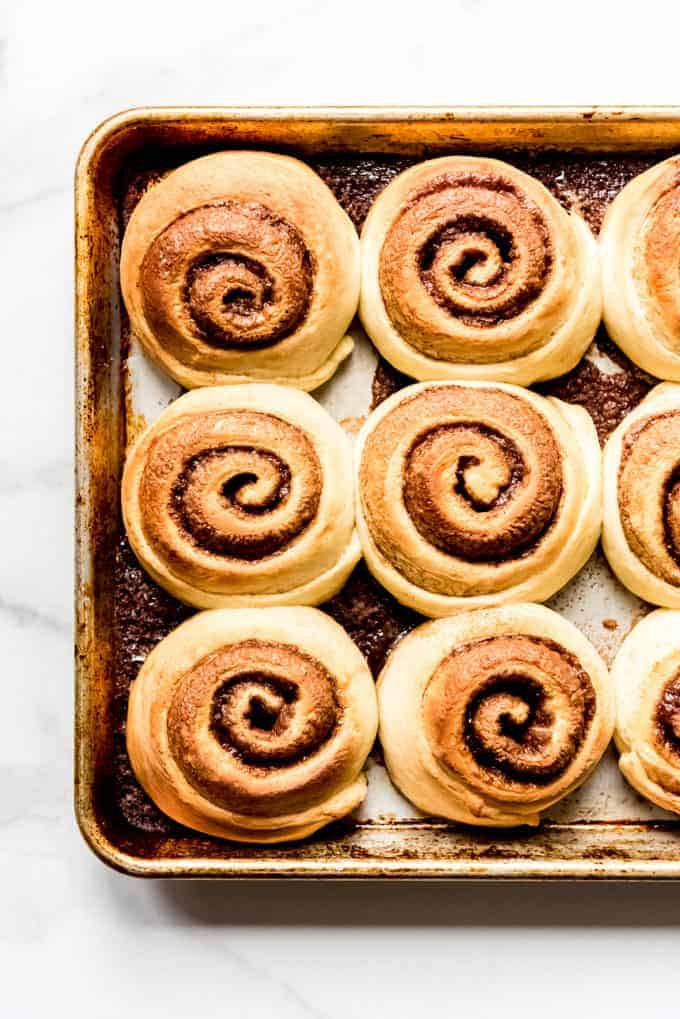 An image of homemade cinnamon buns.