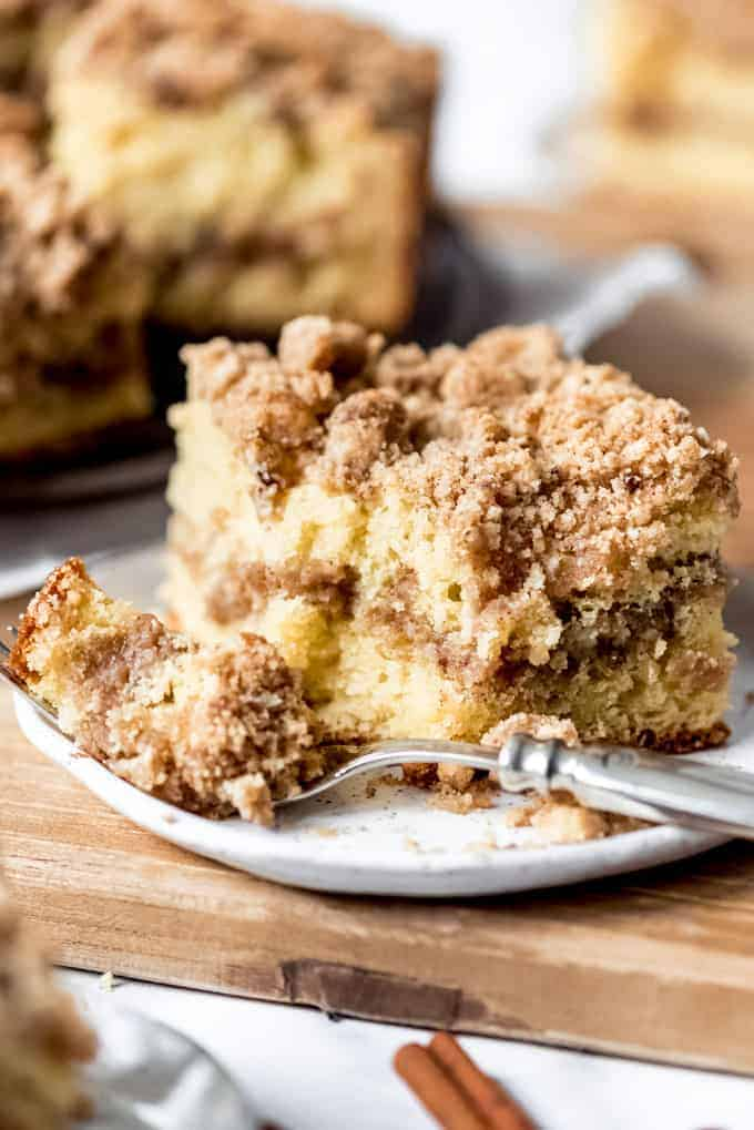 Cinnamon Streusel Sour Cream Coffee Cake House Of Nash Eats