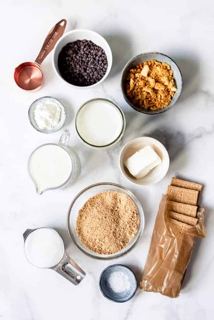 An image of the ingredients for making homemade ice cream.
