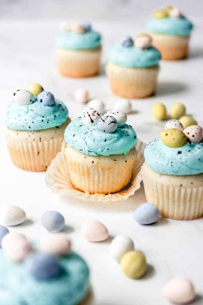Robin's Egg Easter Cupcakes