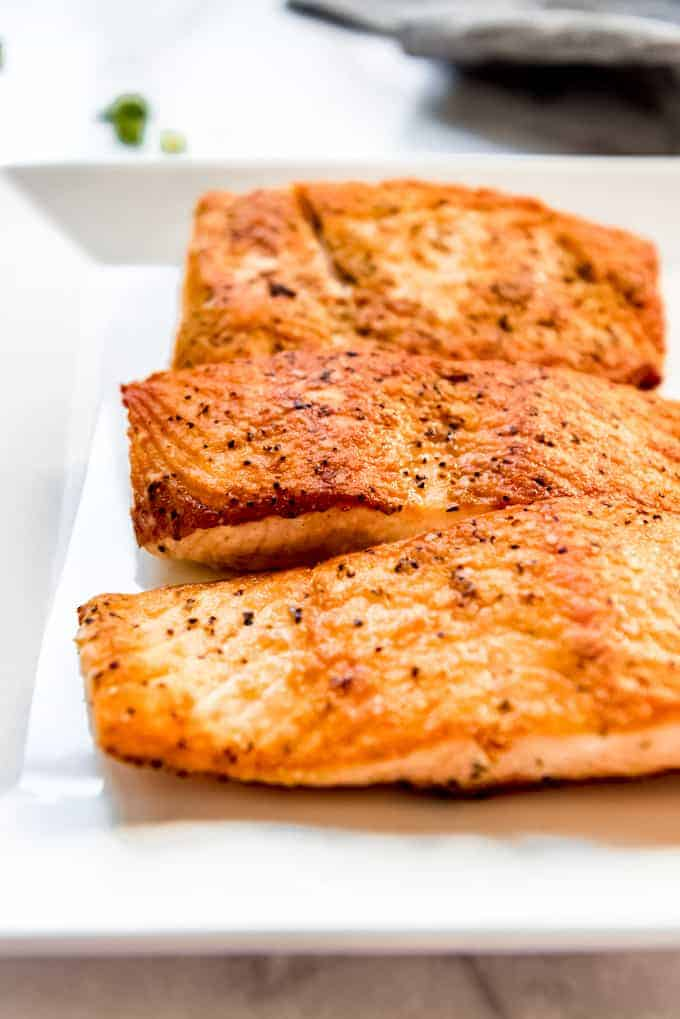 Salmon ready to be served
