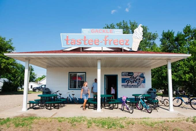 The Freez restaurant in Gackle, North Dakota.