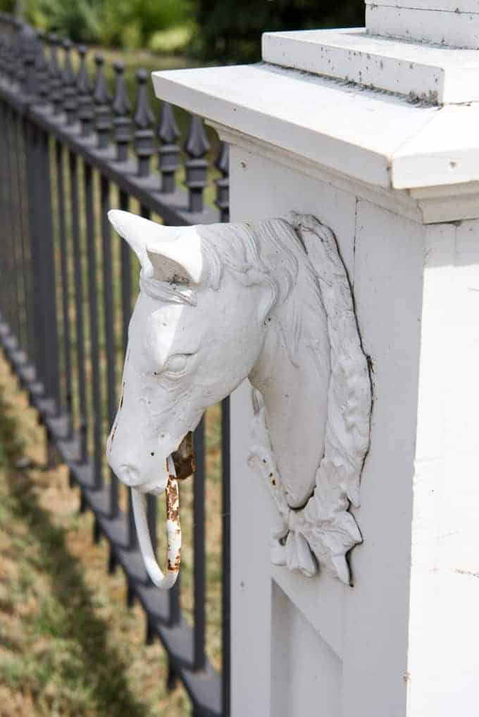 A horse house ornament.