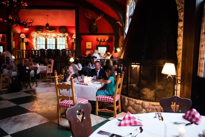 The inside of the Woods Restaurant.