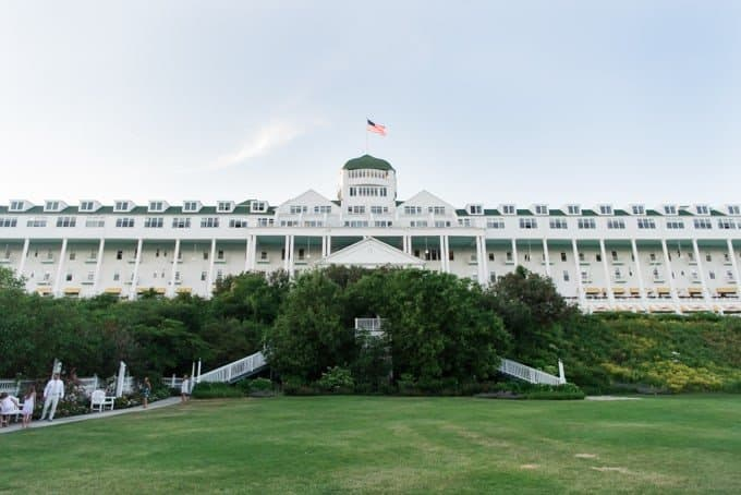 A few of the lawn in front of the Grand Hotel.