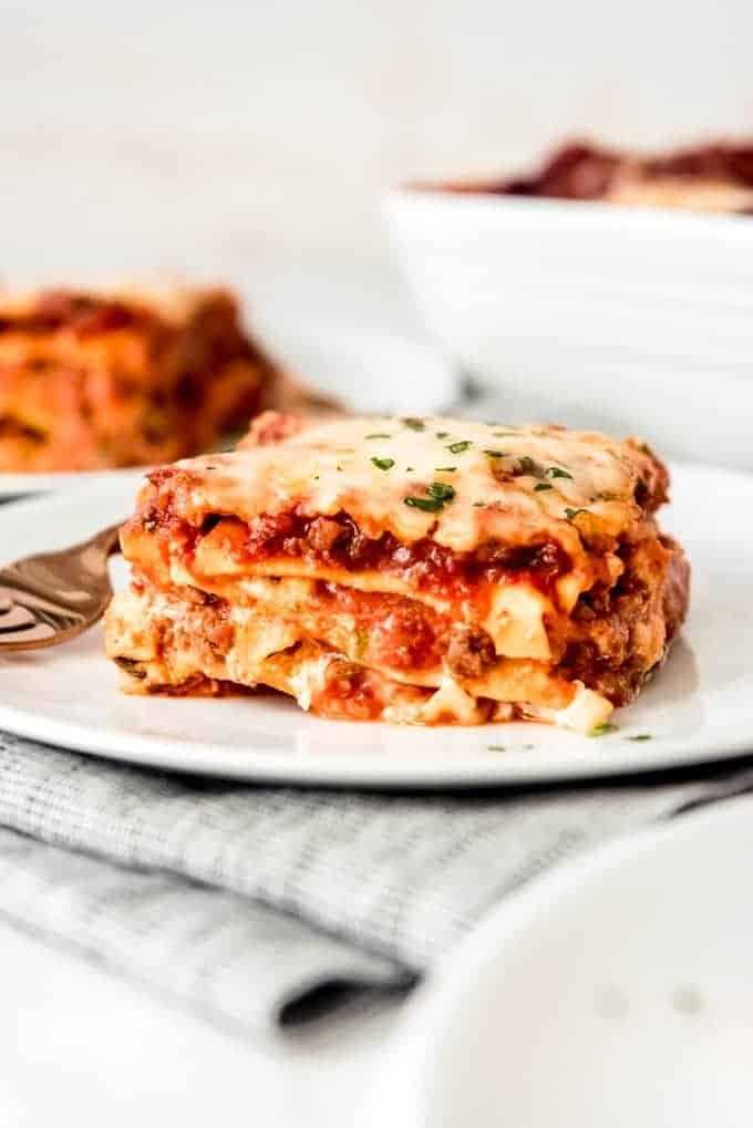 a slice of classic lasagna