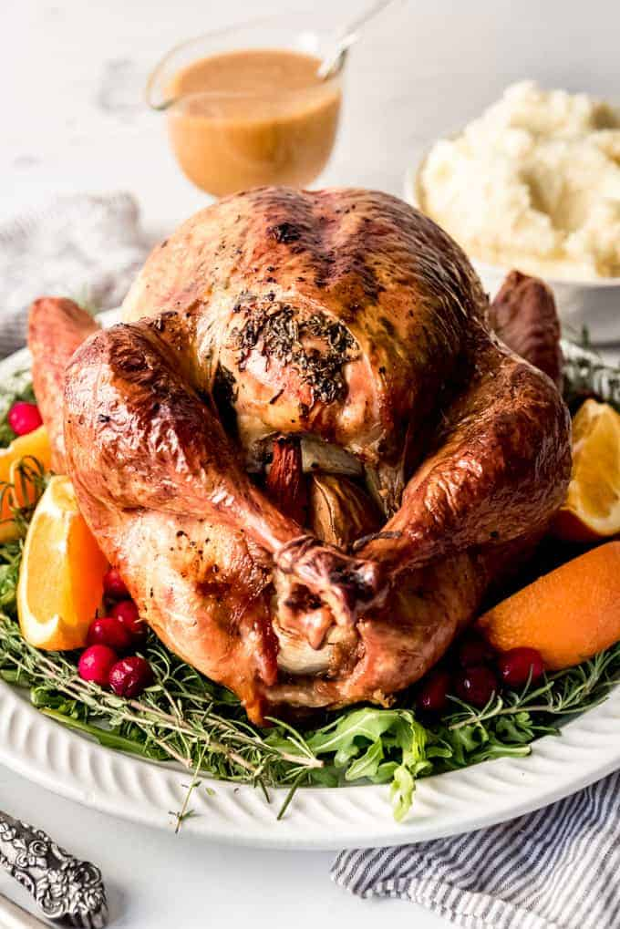 Best Garlic Herb Roasted Turkey