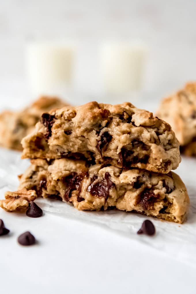a pile of 2 Levain Chocolate Chip Cookies