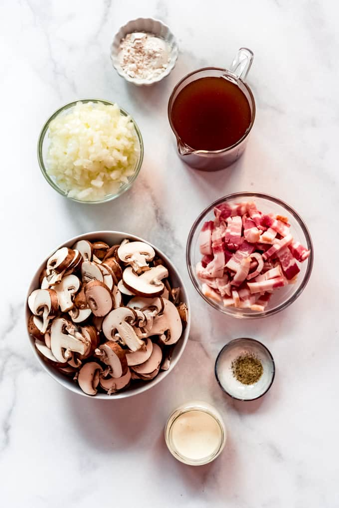mushroom sauce ingredients