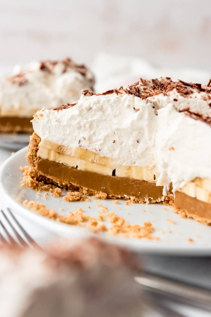 Banoffee Pie on a plate