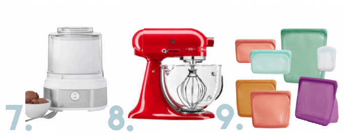Ice cream maker, stand mixer, and reusable silicon bags