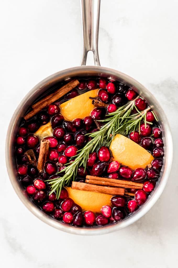 Christmas Stovetop Potpourri ready to simmer