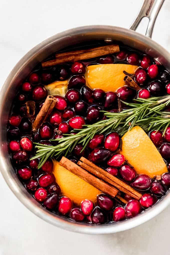simmering seasonal fruit