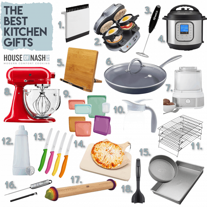 A collage of kitchen gift ideas