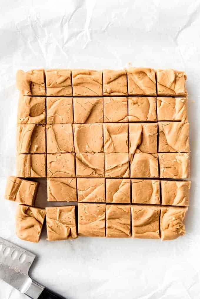 36 squares of peanut butter fudge.