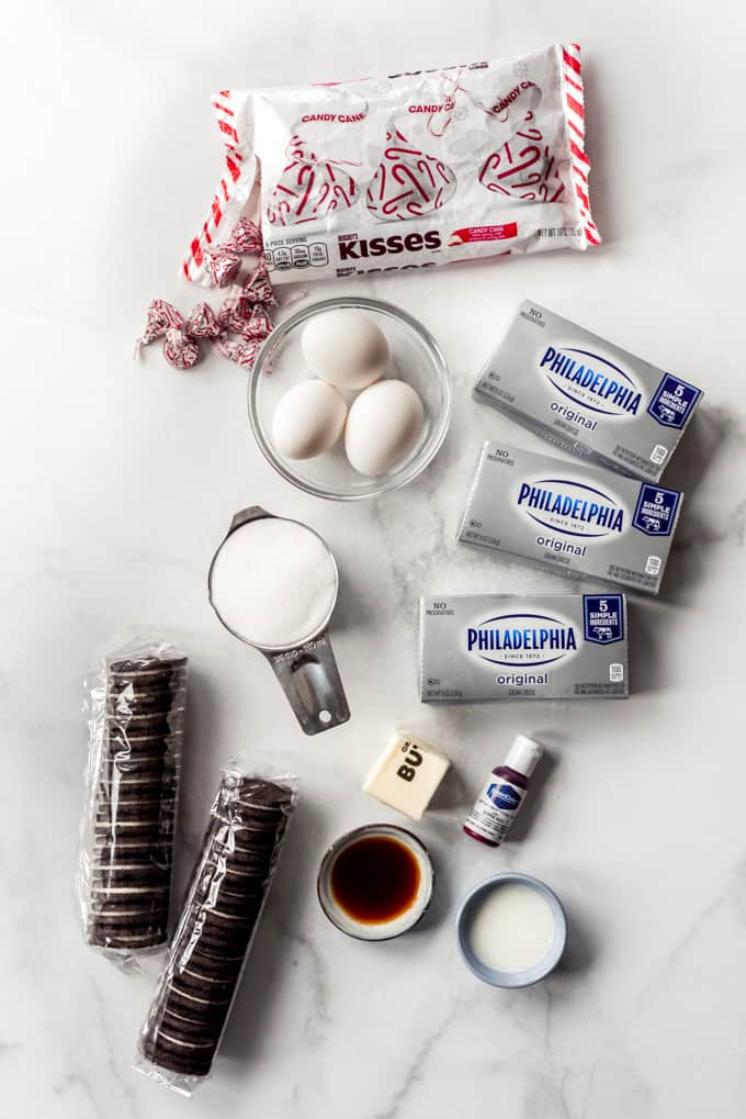 Ingredients for peppermint cheescake