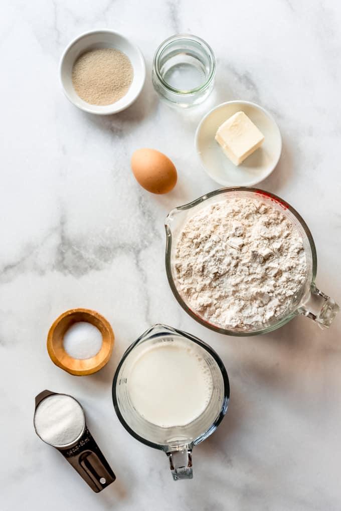 Ingredients in star bread.