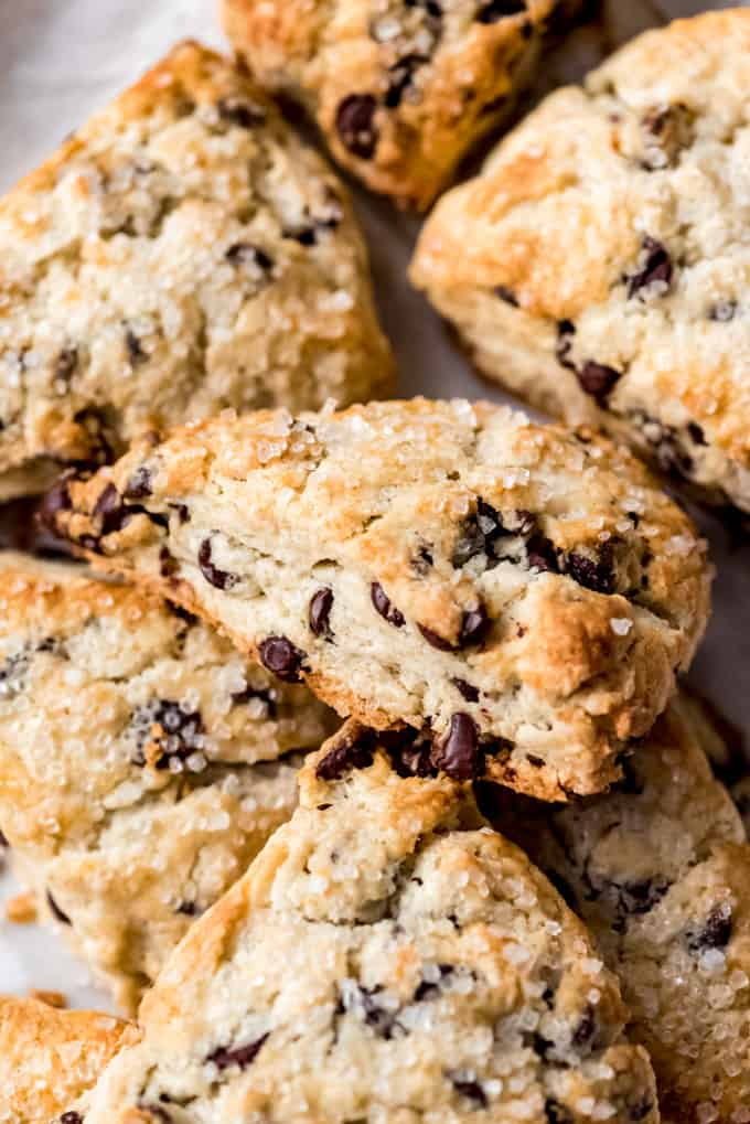 Pile of Chocolate Chip Scones