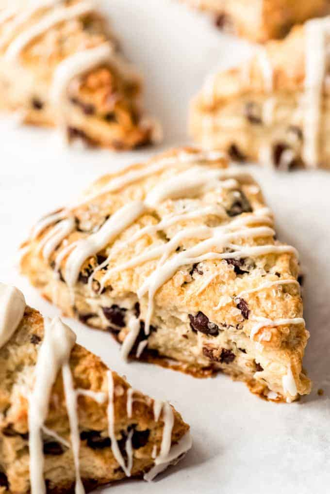 Chocolate Chip Scone close up