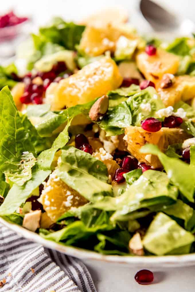 side shot of Orange Pomegranate Salad