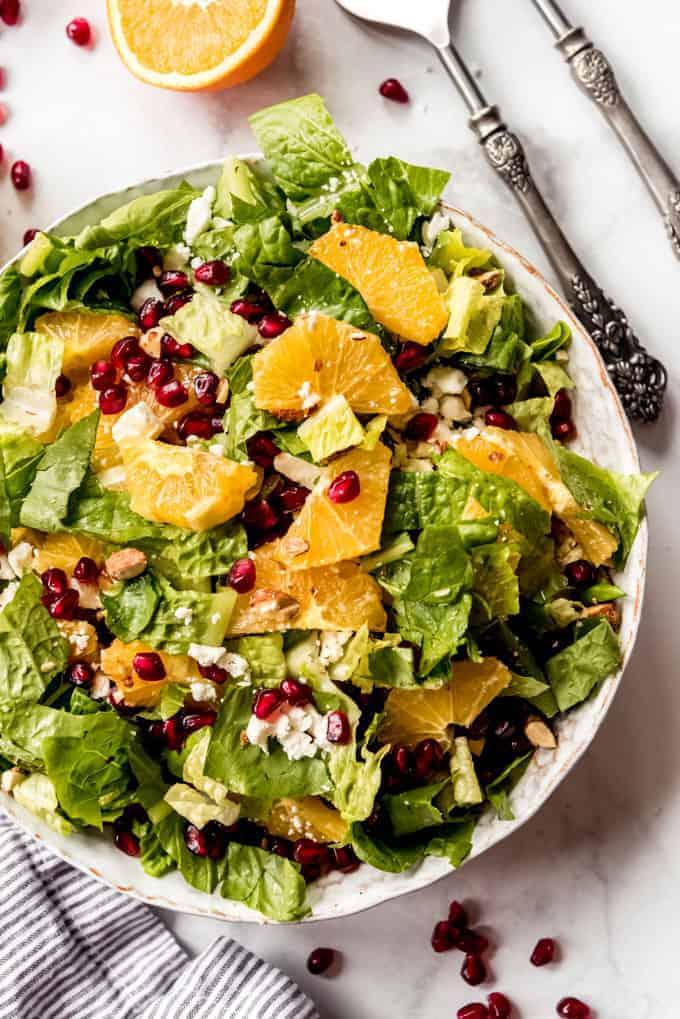 Orange Pomegranate Salad overhead