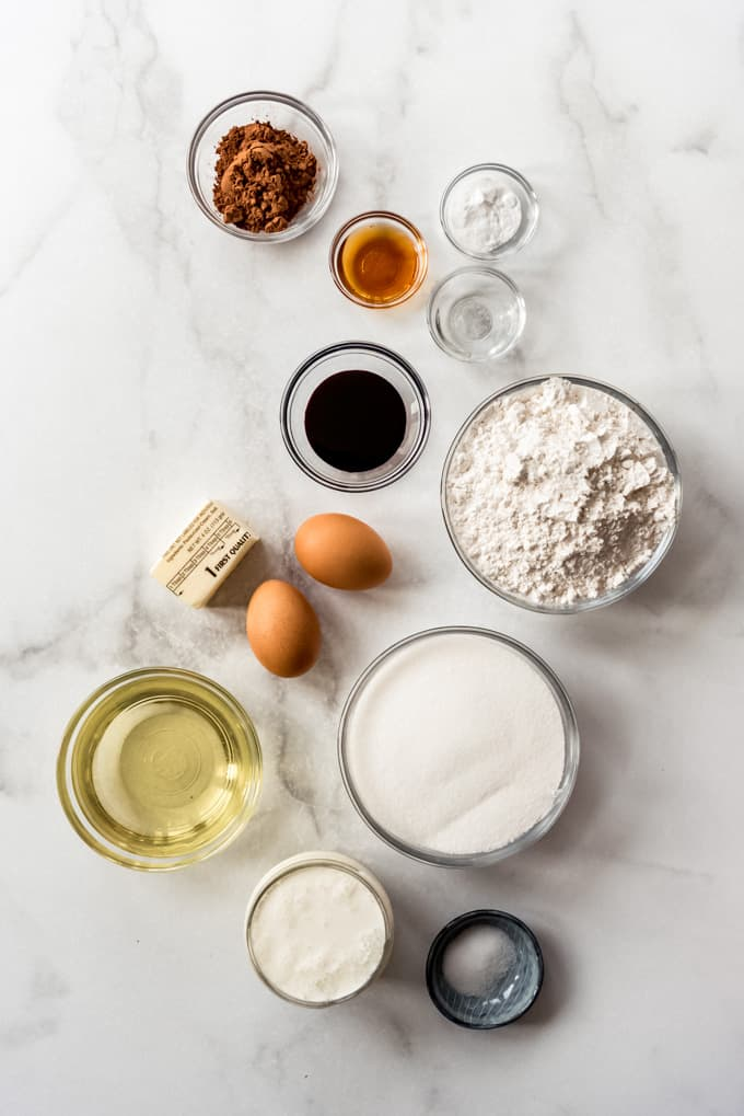 individual ingredients on counter
