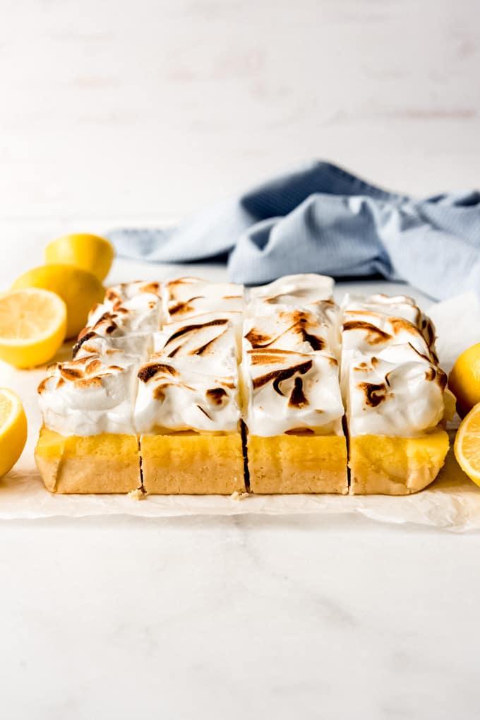 a batch of lemon meringue pie bars