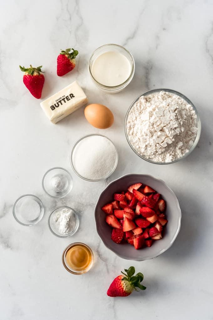 strawberry scone ingredients