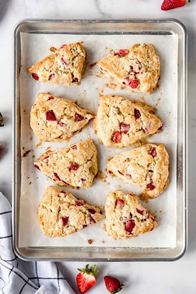 freshly baked strawberry scones