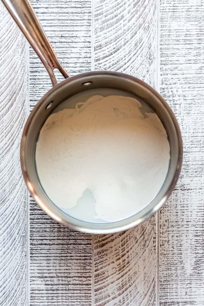 making homemade vanilla pastry cream