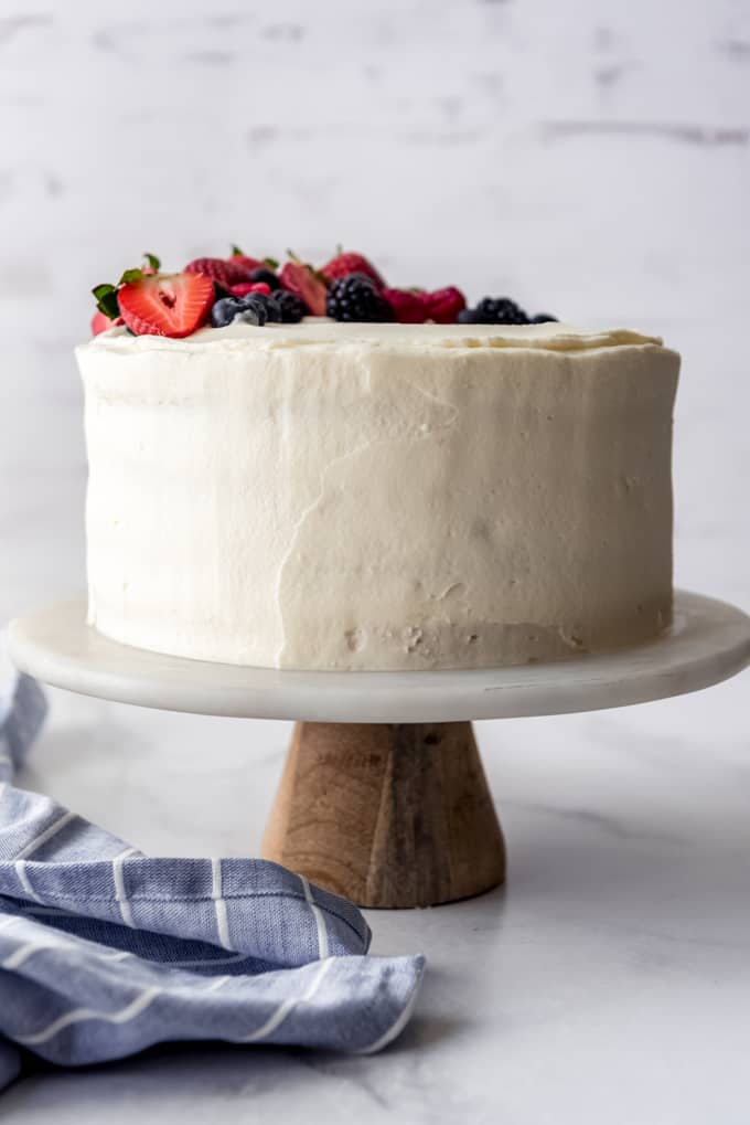 Whole Chantilly Cake with berries