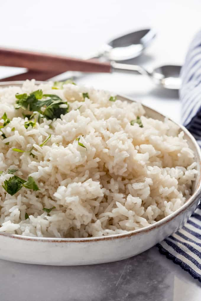 a bowl of coconut rice
