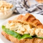 egg salad sandwich on a plate