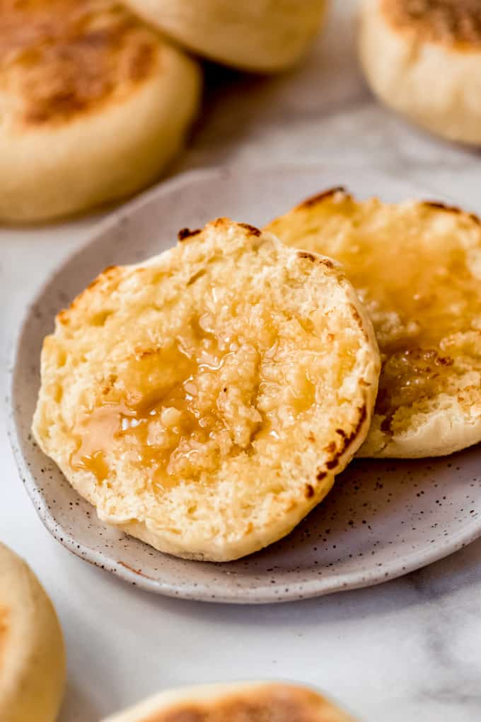 Homemade English Muffin with topping