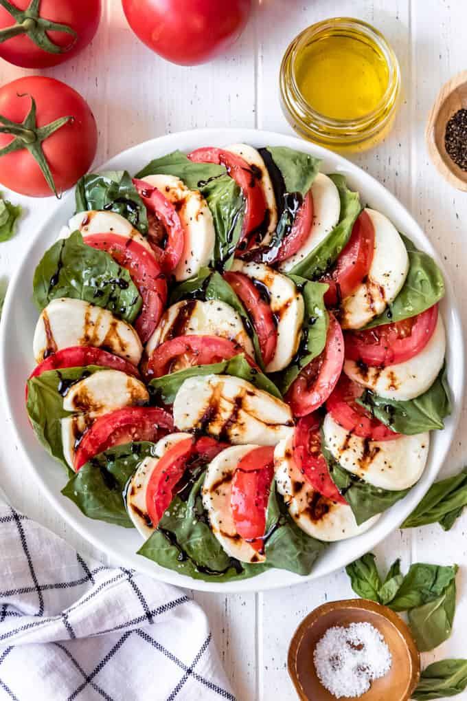 another plate of caprese salad