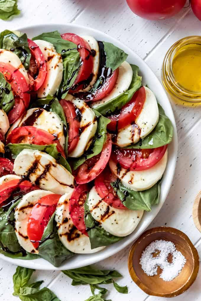 a classic Italian caprese salad