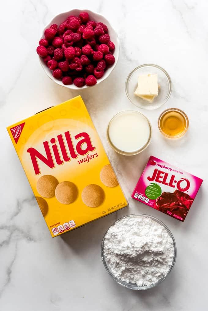 ingredients for raspberry jello