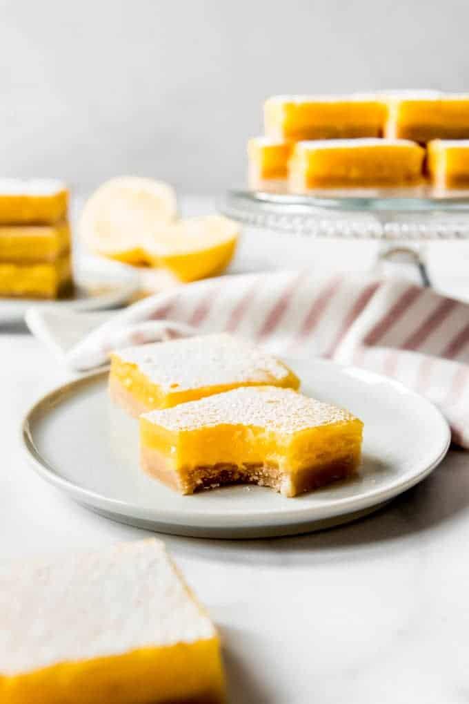 homemade lemon bars cut into squares