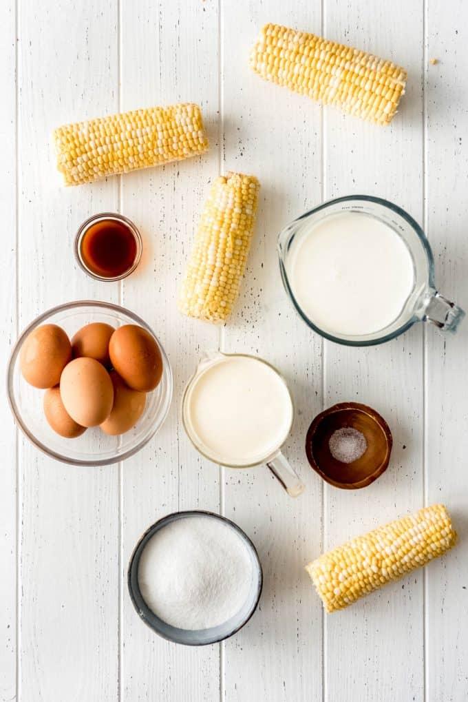 ingredients for corn ice cream