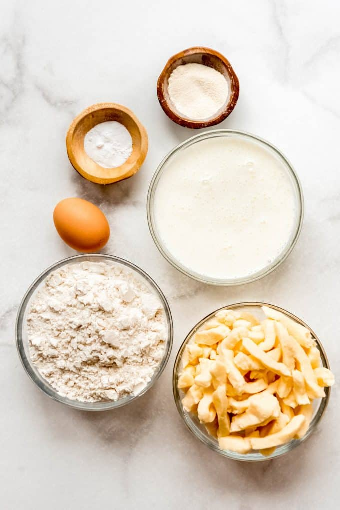 Ingredients for making fried cheese curds