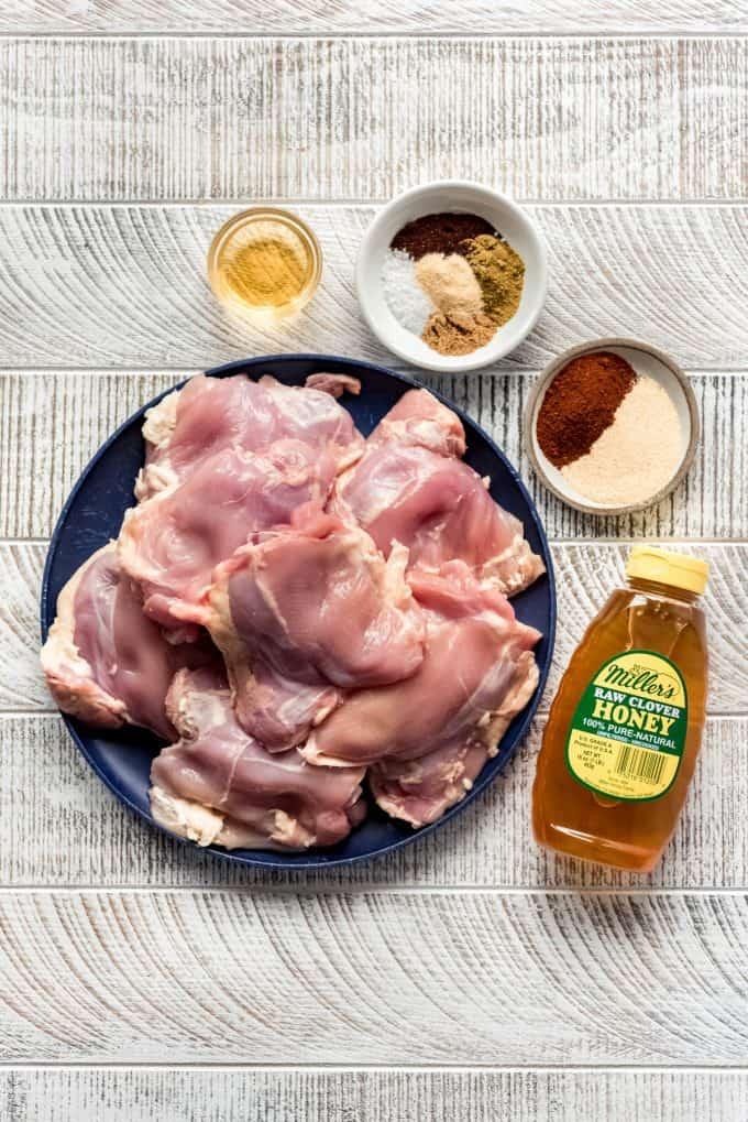 ingredients for spicy honey chicken