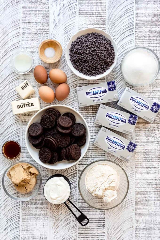 chocolate chip cookie dough cheesecake ingredients